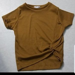3 for $20 NWOT G-N Shop Brown ribbed crop top